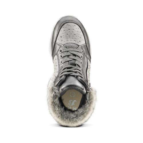 Sneakers con pelliccia da bimba mini-b, grigio, 329-2287 - 15
