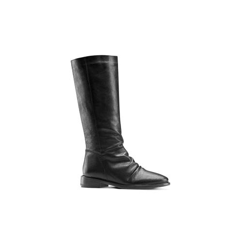 Stivali con dettaglio arricciato bata, nero, 594-6355 - 13