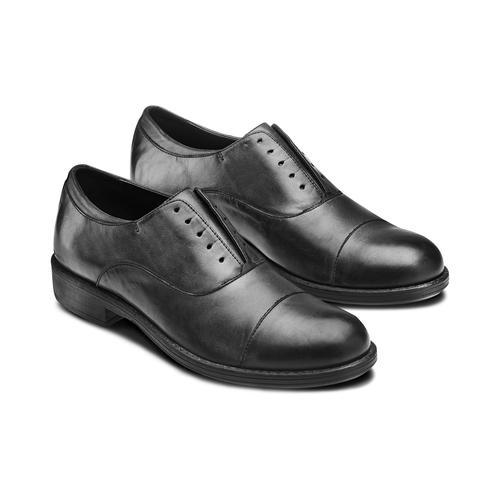 Scarpe da uomo senza lacci bata, nero, 824-6240 - 16