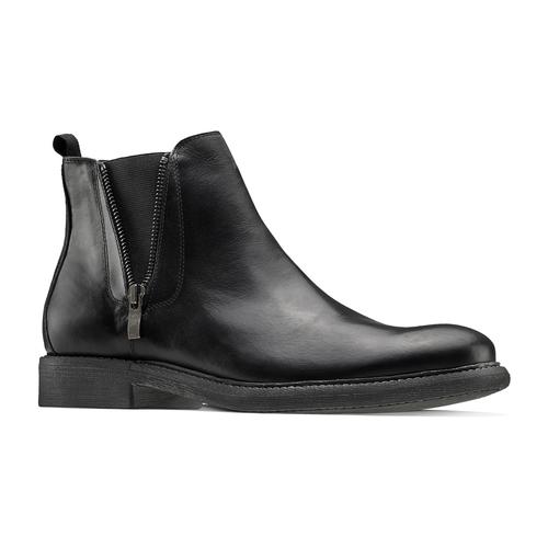 Chelsea Boots da uomo con zip bata, nero, 894-6739 - 13
