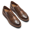 Stringate uomo marroni con decorazioni Brogue bata-light, marrone, 824-4977 - 26