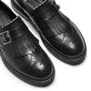 Scarpe da uomo con frange e fibbia bata, nero, 824-6163 - 19
