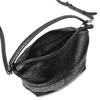 Borsa di pelle in stile Hobo bata, nero, 964-6121 - 16