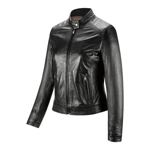 Giacca in pelle da donna bata, nero, 974-6175 - 16