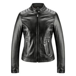 Giacca in pelle da donna bata, nero, 974-6175 - 13
