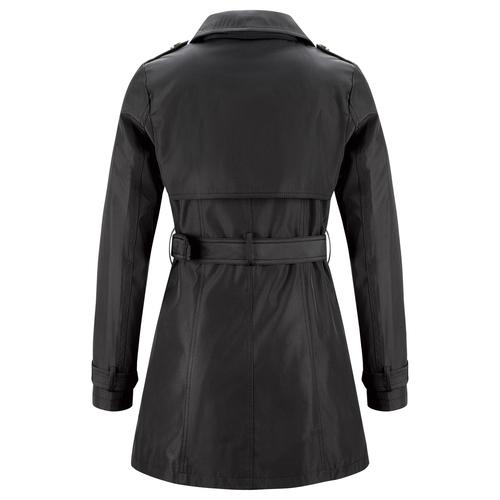 Trench da donna con cintura bata, nero, 979-6180 - 26