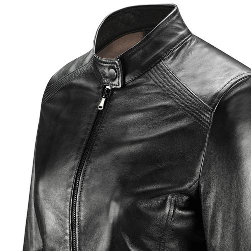 Giacca in pelle da donna bata, nero, 974-6175 - 15