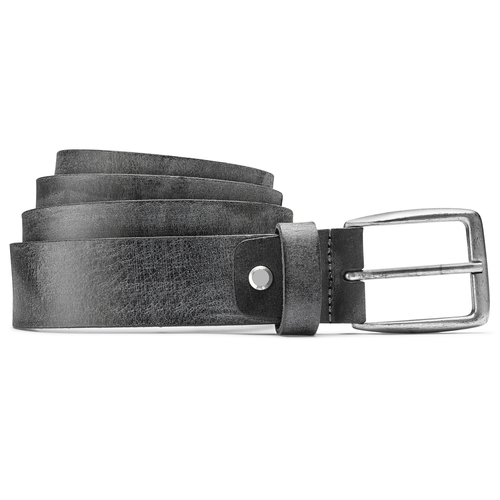 Cintura nera uomo bata, nero, 954-6108 - 13