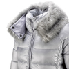Piumino da donna con eco-pelliccia bata, grigio, 979-2158 - 15