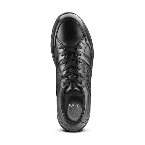 Sneakers da donna in pelle bata, nero, 624-6178 - 15