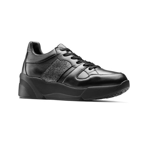 Sneakers da donna in pelle bata, nero, 624-6178 - 13
