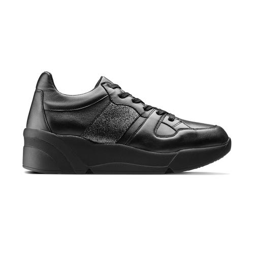 Sneakers da donna in pelle bata, nero, 624-6178 - 26