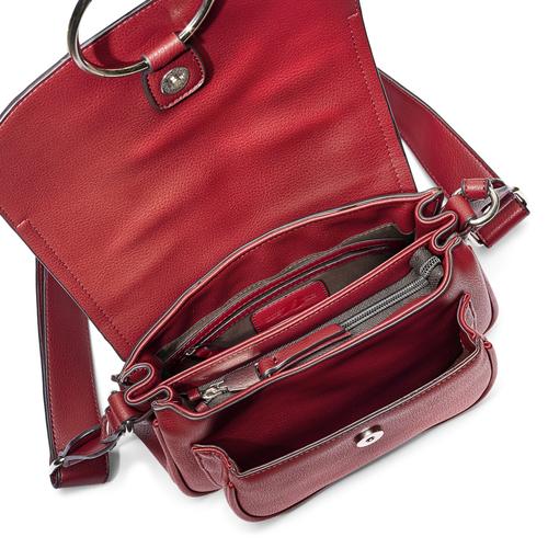 Borsa rossa con anello bata, rosso, 961-5161 - 16
