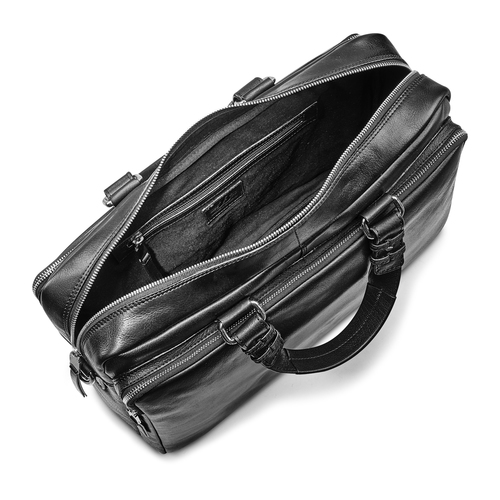 Business bag in pelle bata, nero, 964-6106 - 16