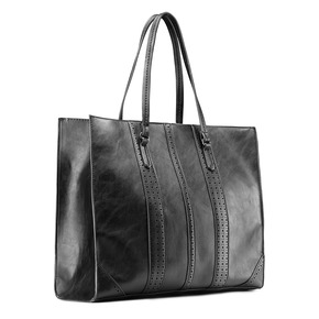 Shopper da donna in similpelle bata, nero, 961-6163 - 13