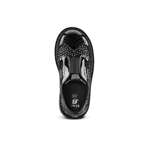 Scarpe senza lacci da bimba mini-b, nero, 221-6202 - 15