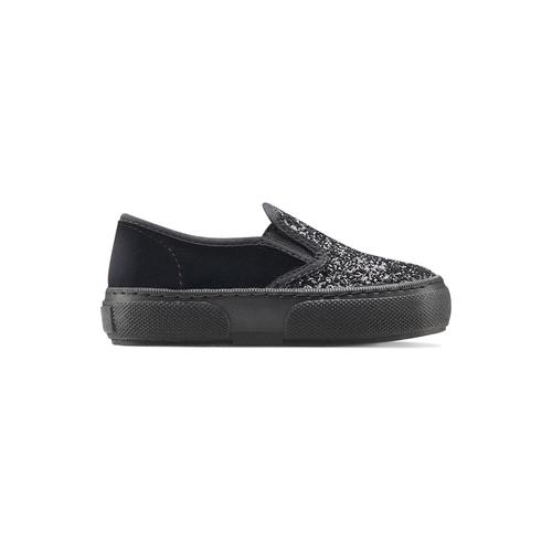 Slip on velluto con glitter, nero, 229-6211 - 26