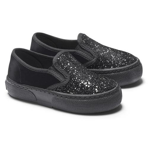 Slip on velluto con glitter north-star, nero, 229-6211 - 19