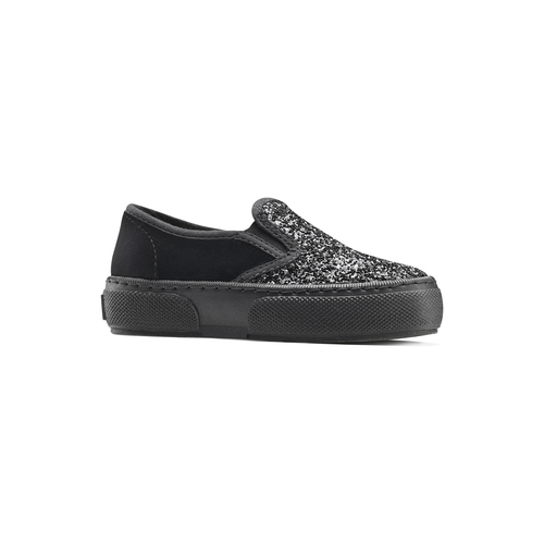 Slip on velluto con glitter, nero, 229-6211 - 13