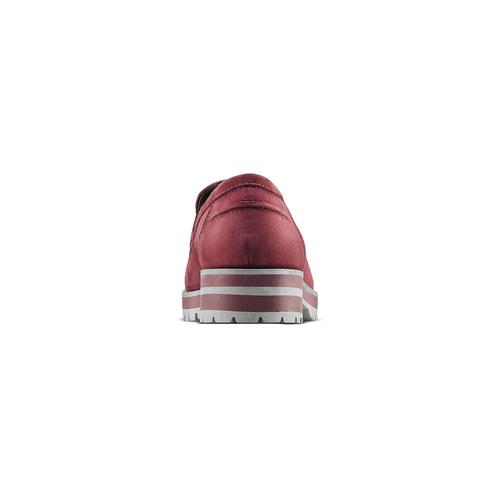Mocassini in suede da donna bata, rosso, 513-5158 - 16