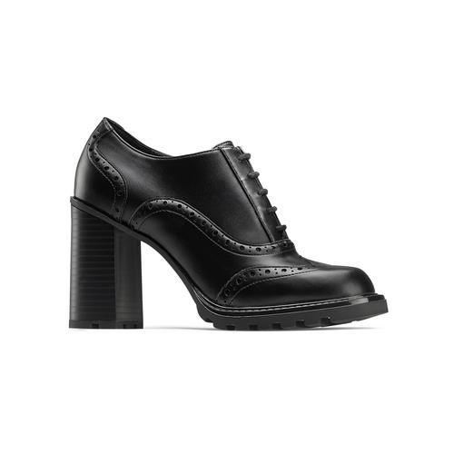 Stringate donna con tacco bata, nero, 721-6146 - 13