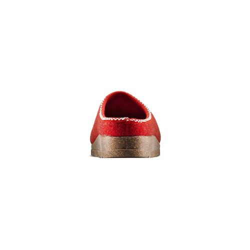Pantofole da donna in lana bata, rosso, 579-5420 - 15