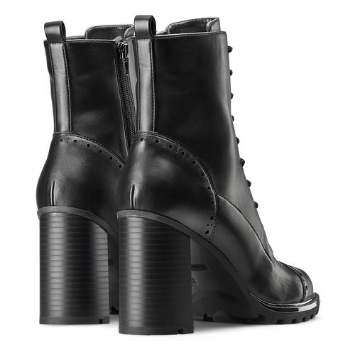 Stivali con lacci da donna bata, nero, 791-6177 - 19