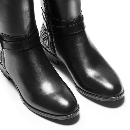 Stivali alti da donna bata, nero, 594-6301 - 15