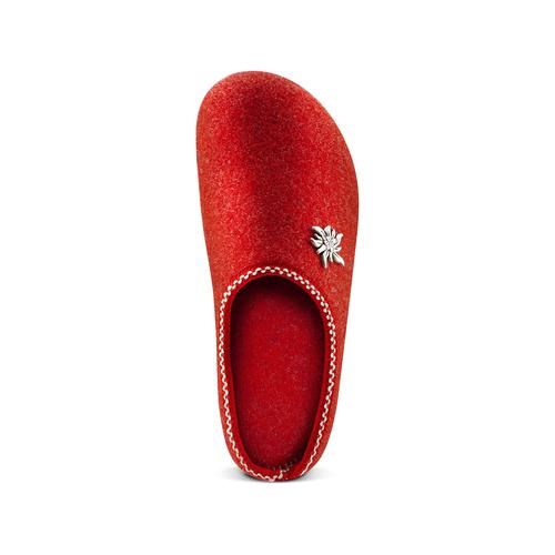 Pantofole da donna in lana bata, rosso, 579-5420 - 17