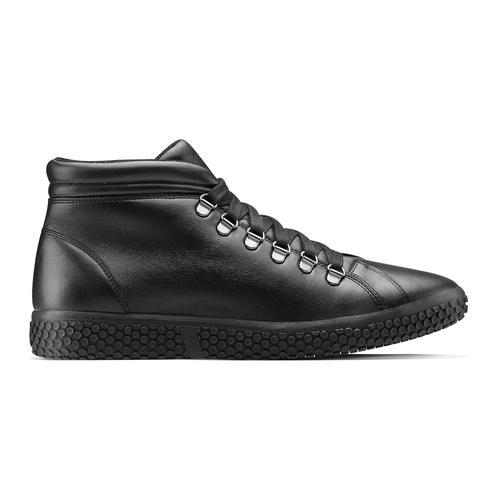 Sneakers da uomo in pelle bata, nero, 844-6116 - 26