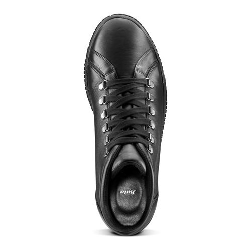 Sneakers da uomo in pelle bata, nero, 844-6116 - 15