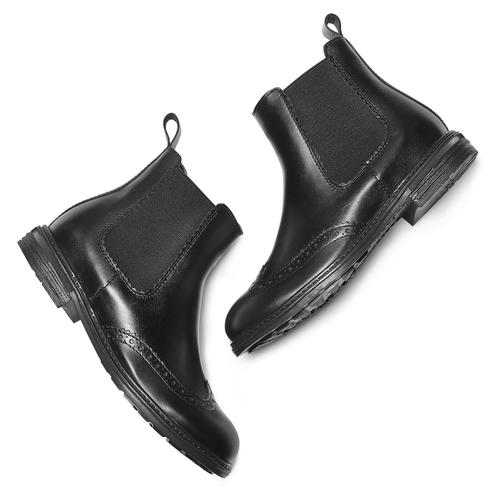 Chelsea Boots da bambini mini-b, nero, 394-6425 - 19
