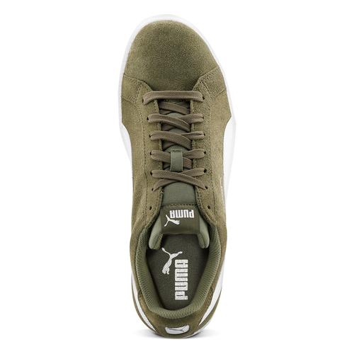 Sneakers Puma in suede puma, verde, 803-7312 - 15