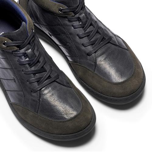 Scarpe Comfit uomo in pelle bata-comfit, nero, 894-6710 - 19