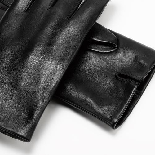 Guanti in pelle da uomo bata, nero, 904-6130 - 15
