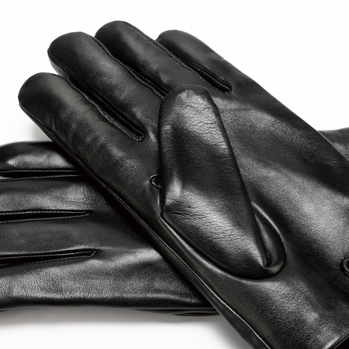 Guanti in pelle da uomo bata, nero, 904-6130 - 16