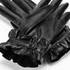 Guanti con rouches bata, nero, 904-6132 - 16