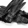 Guanti con rouches bata, nero, 904-6132 - 15