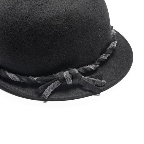 Cappello da donna in lana bata, nero, 909-6671 - 16