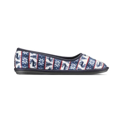 Pantofole in ciniglia bata, viola, 579-9423 - 26