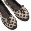 Pantofole da donna a pois bata, marrone, 579-4422 - 19