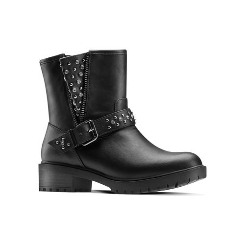 Ankle boots con borchie da bambina mini-b, nero, 391-6410 - 13