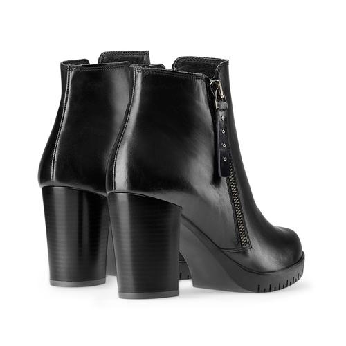 Ankle boots in vera pelle bata, nero, 794-6676 - 26