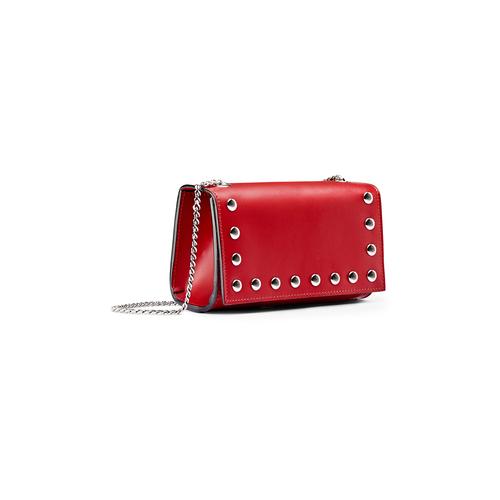 Tracolla da donna in vera pelle bata, rosso, 964-5277 - 13