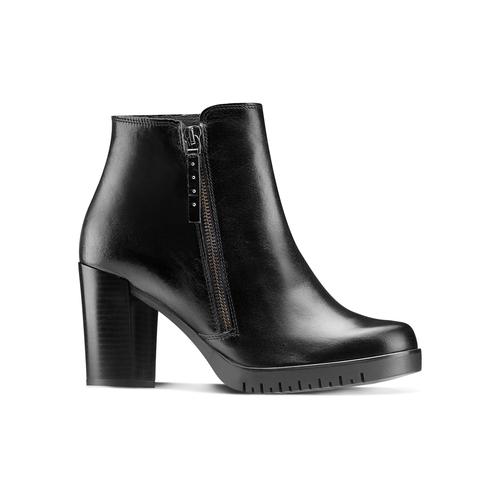 Ankle boots in vera pelle bata, nero, 794-6676 - 13
