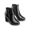 Ankle boots in vera pelle bata, nero, 794-6676 - 16