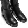 Stivali alti in vera pelle bata, nero, 694-6361 - 15