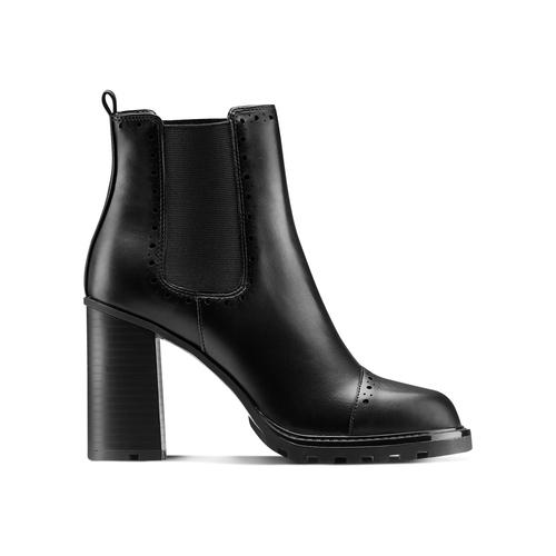 Stivaletti alla caviglia con tacco bata, nero, 791-6181 - 26
