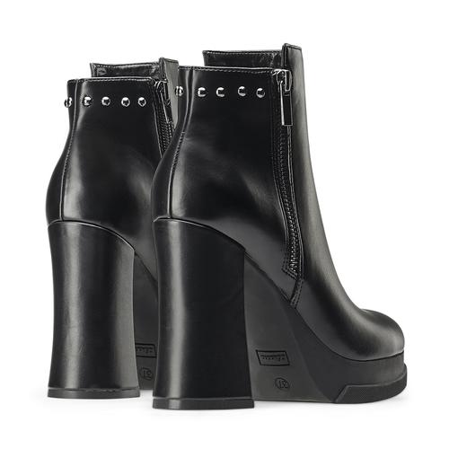 Ankle boots con tacco quadrato bata, nero, 791-6290 - 19