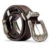 Cintura da donna con doppia fibbia bata, marrone, 951-4131 - 26
